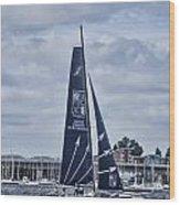 Extreme 40 Team Groupe Edmond De Rothschild Wood Print