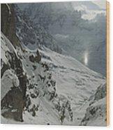 Extreme Skier Jean Franck Charlet Wood Print