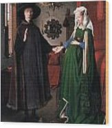 Eyck: Arnolfini Marriage Wood Print