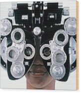 Eye Examination Wood Print