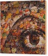 Eye Of Autumn Wood Print