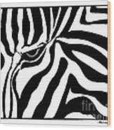 Eye Of The Zebra Wood Print