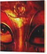 Eyes Behind The Mask Wood Print