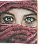 Eyes Magic Wood Print