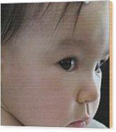 Eyes Of Innocence Wood Print by Valia Bradshaw