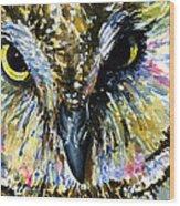 Eyes Of Owl's 13 Wood Print