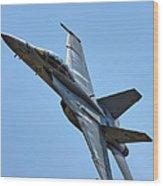 F-18 Hornet Wood Print