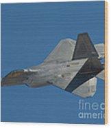 F-22 Lightning 2 Fighter Wood Print by Tim Mulina