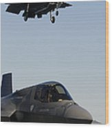 F-35b Lighnting II Variants Land Aboard Wood Print
