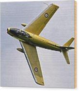 F-86 Sabre Topside Wood Print