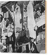 Faber: Mural Painting, C1940 Wood Print