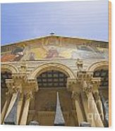 facade of Church of all Nations Jerusalem Wood Print