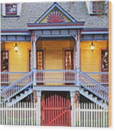 Facade Of Plantation Slave Quarters Wood Print by Jeremy Woodhouse