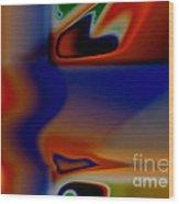 Face 123 Wood Print