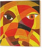 Face 45 Wood Print