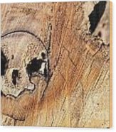Face In The Wood Wood Print