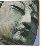 Face Of The Daibutsu Or Great Buddha Wood Print