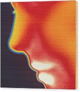 Face Thermogram Wood Print