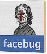 Facebug For Women Wood Print