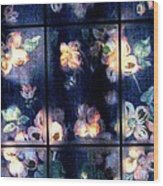 Faded Dogwood Window Dressing Wood Print