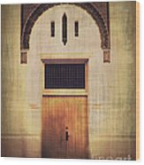 Faded Doorway Wood Print