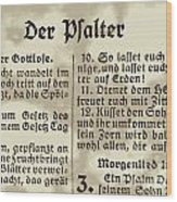 Faded Old German Bible Page Wood Print