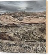 Faded Painted Hills Wood Print