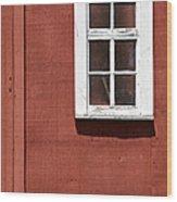 Faded Red Wood Farm Barn Wood Print