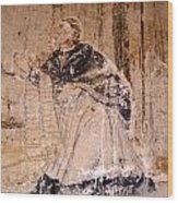 Faded Religious Mural Mexico Wood Print