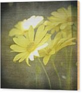 Faded Yellow Wood Print