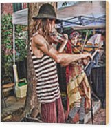 Faire Performers Wood Print