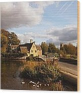 Fairford Mill In The Evening Wood Print