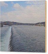 Fairmount Dam And Boathouse Row - Philadelphia Wood Print