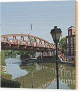 Fairport Lift Bridge Wood Print