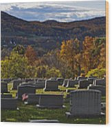 Fairview Cemetery In Autumn Wood Print