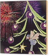 Fairy Christmas Wood Print