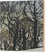 Fairy Lights Wood Print