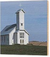 Faith On The Prairie Wood Print