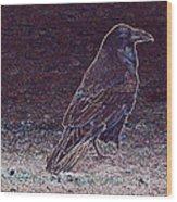 Faithful Raven Wood Print