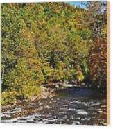 Fall Along Elk River Wood Print by Thomas R Fletcher