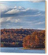 Fall At Dusk Wood Print