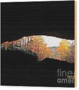 Fall At The Cave Wood Print