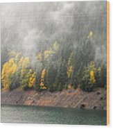 Fall At The Lake 2 Wood Print