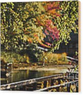 Fall At Tyler State Park Wood Print