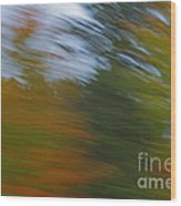 Fall Blur Wood Print