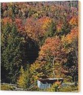 Fall Color West Virginia Wood Print