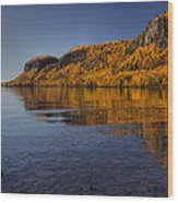 Fall Colours In The Squaw Bay II Wood Print