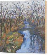 Fall Creek Wood Print