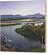 Fall Creek Panorama Wood Print
