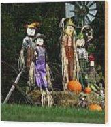 Fall Decoration Wood Print